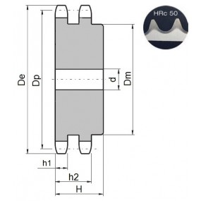 Koło łańcuchowe 10B-2-z14 zęby hart.