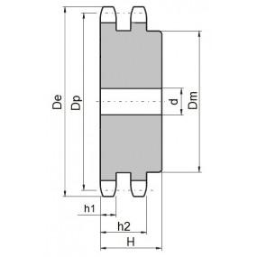 Koło łańcuchowe 05B-2-z16 (8x3mm)