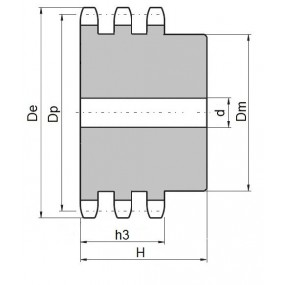 Koło łańcuchowe 06B-3-z39 (3/8)