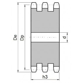 Koło łańcuchowe bez piasty 06B-3-z43 (3/8)