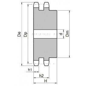 Koło łańcuchowe 08B-2-z19 (1/2)