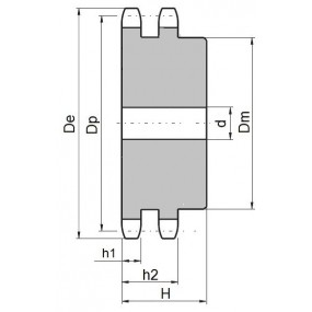 Koło łańcuchowe 08B-2-z76 (1/2)