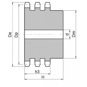 Koło łańcuchowe 08B-3-z19 (1/2)