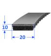Pas szerokoprofilowy SVX 20x10 1500 OPTIBELT