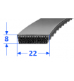 Pas szerokoprofilowy SVX 22x8 800 OPTIBELT