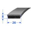 Pas szerokoprofilowy SVX 26x8 762 OPTIBELT