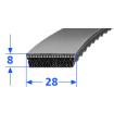 Pas szerokoprofilowy SVX 28x8 1250 OPTIBELT